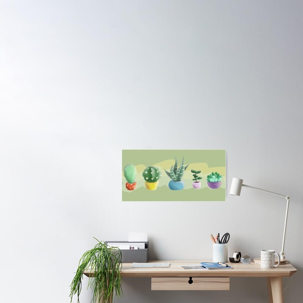 cute cacti Poster