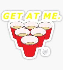 Beer Pong Shirt Sticker