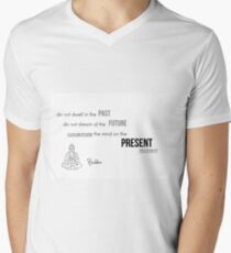 Concentrate on the present moment - Buddha Men's V-Neck T-Shirt