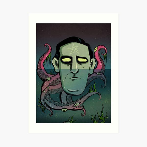 Floating Lovecraft Art Print