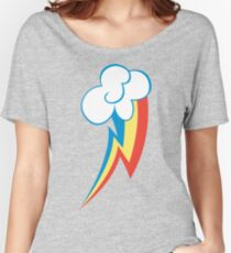 Rainbow Dash Cutie Mark (Large icon) - My Little Pony Friendship is Magic Women's Relaxed Fit T-Shirt
