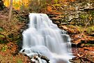 Gushing Fall Flow Over Erie Falls by Gene Walls