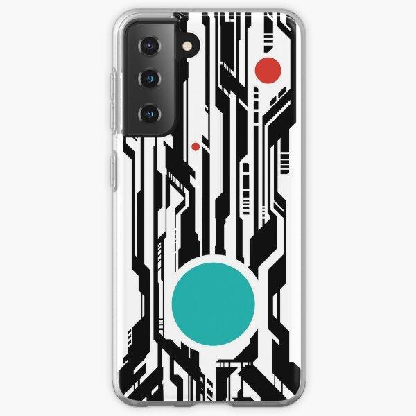 Cyberpunk Pattern Teal Samsung Galaxy Soft Case