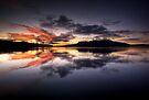 Tarawera Dawn Reflection by Michael Treloar
