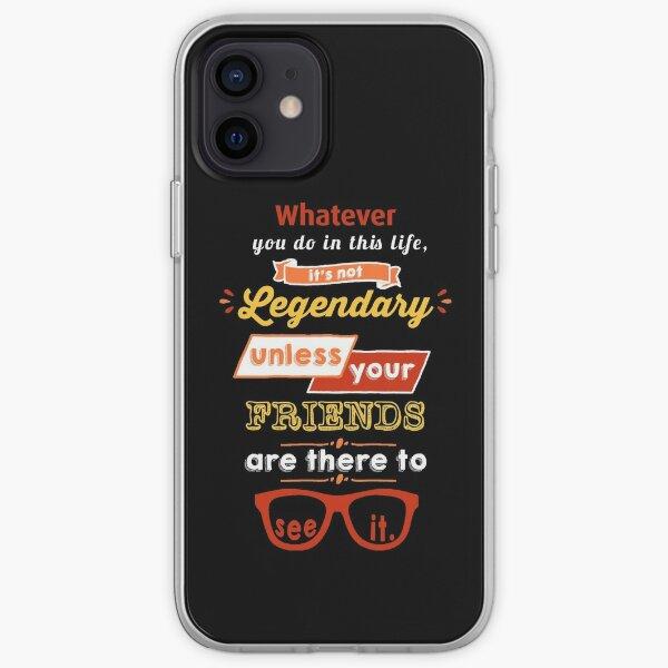 Légendaire - Barney Stinson Quote (Orange) Coque souple iPhone