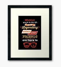 Legendary - Barney Stinson Quote (Orange) Framed Print