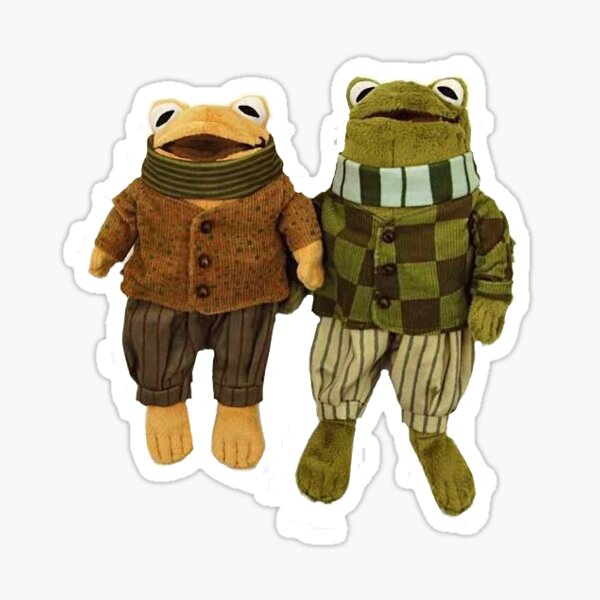 gay frog and toad overlords Sticker