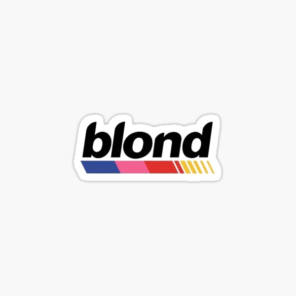 Blond.  Sticker