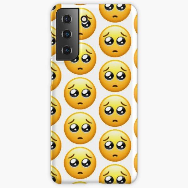 Coque et skin adhésive Samsung Galaxy « Emoji - visage triste sous ...