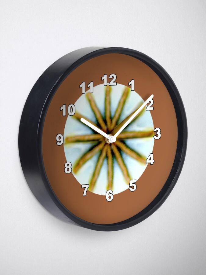 Alternate view of Poppy Pod Silhouette at Dusk - Lunar Opium Photography Clock