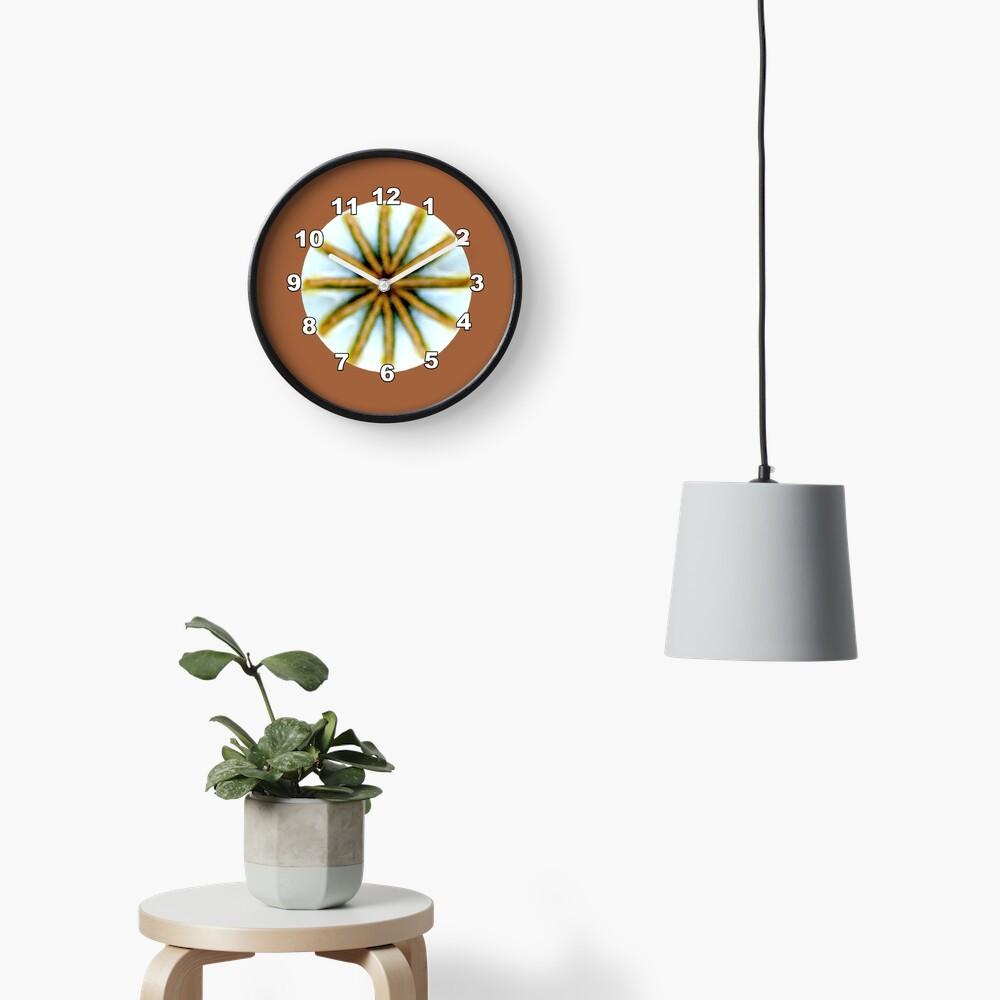 Poppy Pod Silhouette at Dusk - Lunar Opium Photography Clock