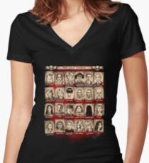 HellSchool Yearbook Women's Fitted V-Neck T-Shirt