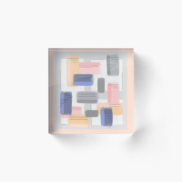 Mod Chalk Nod Abstract Acrylic Block