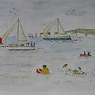 Off Sandbanks Beach by Mike HobsoN