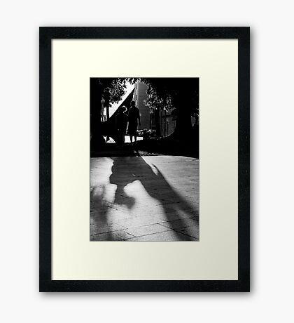 Silouhettes and shadows Framed Print