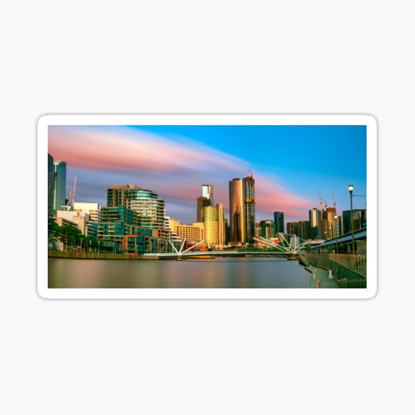 Melbourne sunset Sticker