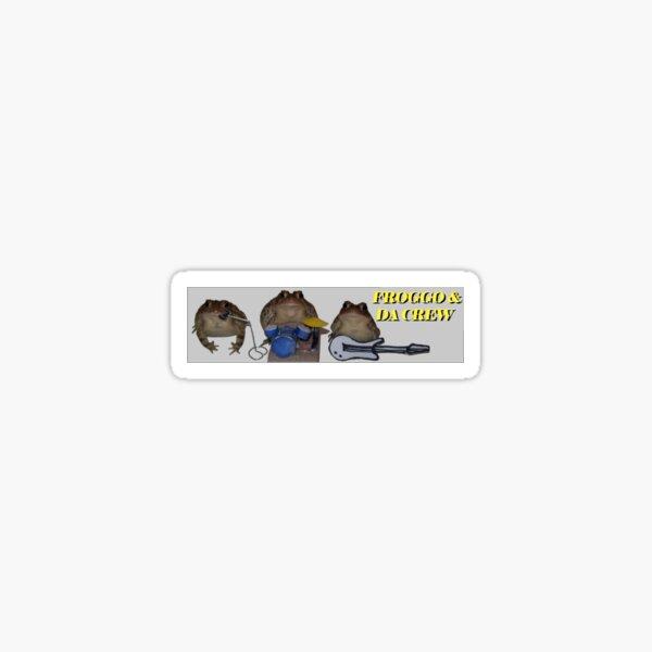 Froggo and da crew Sticker