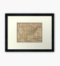 Map of the United States of America (1823) Framed Print