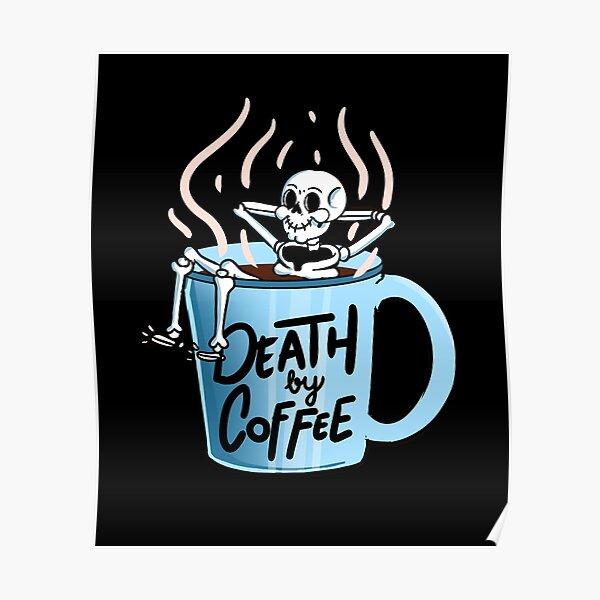 Dead Barista Zombie Skull Coffee Cafeine Iron on Punk Emo Patch