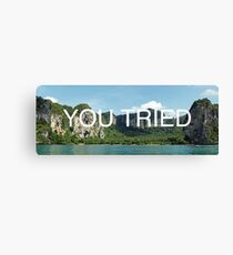 You Tried Canvas Print