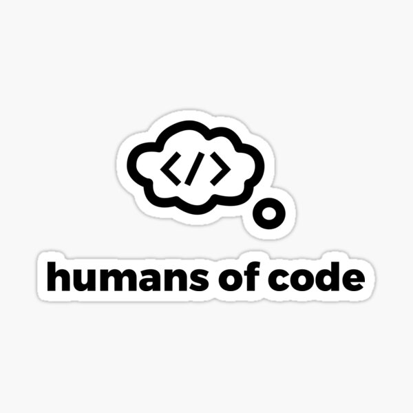 humans of code logo and name Sticker