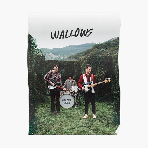 """wallows """"remember when"""" poster  Poster"""