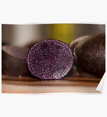 Purple Potatoes Fit for a King Poster