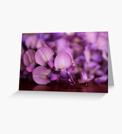 Wisteria On Top Of A Desk Greeting Card