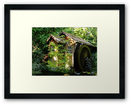 Old Water Wheel by Tracy Friesen