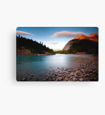 Banff, Alberta Canada - Bow River  Canvas Print