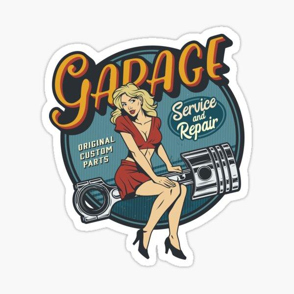 Vintage sticker - Mechanic on duty Sticker