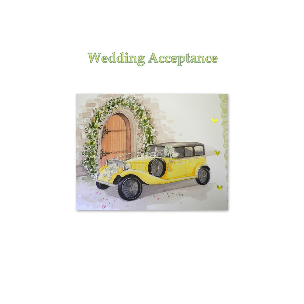 Wedding Acceptance by ©The Creative  Minds