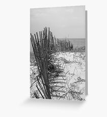 Along the Beach Fence Greeting Card