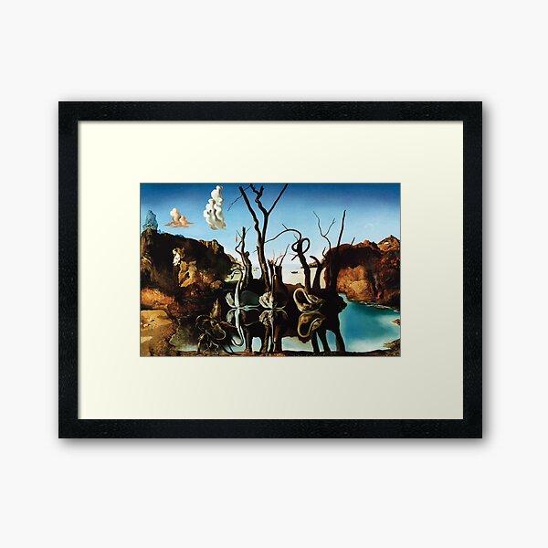 Salvador Dali | Swans Reflecting Elephants Framed Art Print