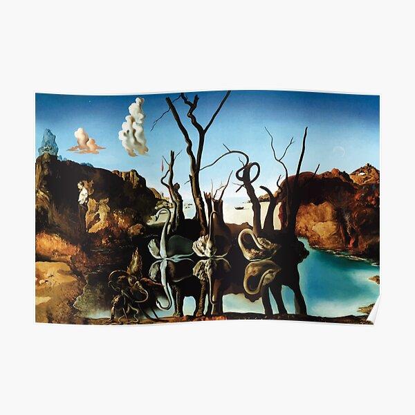 Salvador Dali | Swans Reflecting Elephants Poster