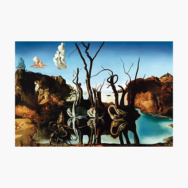 Salvador Dali | Swans Reflecting Elephants Photographic Print
