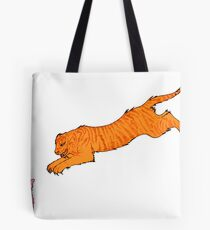 Sabre Toothed Tiger vs Kitten Tote Bag
