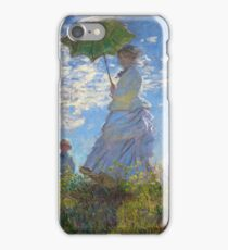 Claude Monet - The Walk, Woman with a Parasol iPhone Case/Skin