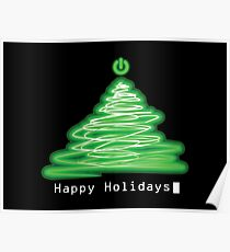 Merry Christmas and Happy Holidays! IT, Software Engineers, System Engineers, Hackers, Geeks  Poster