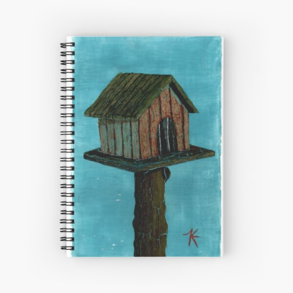 Lonely Birdhouse  Spiral Notebook