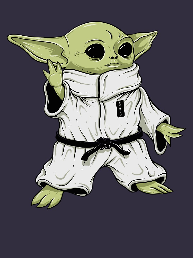 Cute BJJ Sci Fi Baby Alien Character in Gi Jiu Jitsu by CreaTeePH