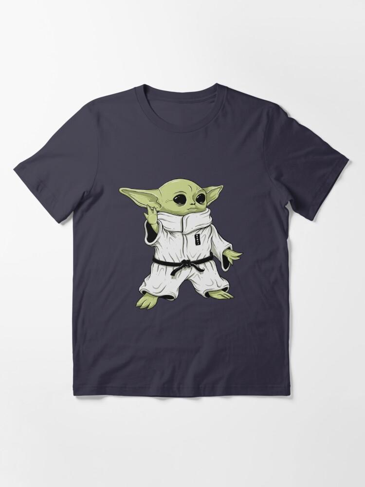 Alternate view of Cute BJJ Sci Fi Baby Alien Character in Gi Jiu Jitsu Essential T-Shirt
