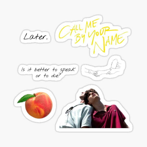 Call me by your name sticker set Sticker