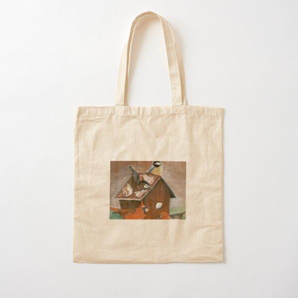 Bird Busy Monday   Cotton Tote Bag