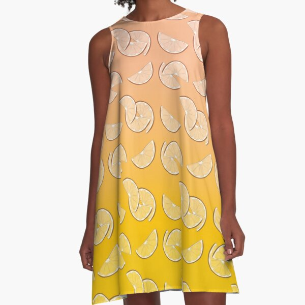 Grapefruit pattern A-Line Dress