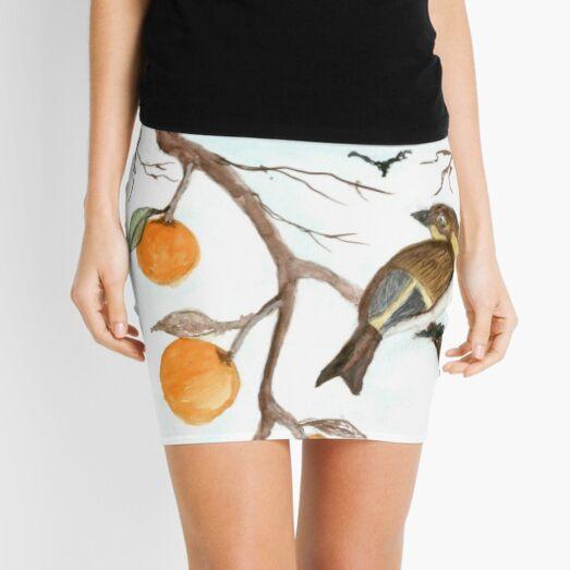 Bird in Orange Tree   Mini Skirt