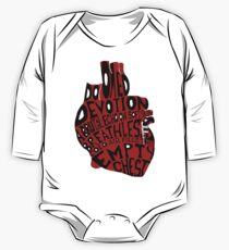 empty chest : anatomical heart (large red) Kids Clothes