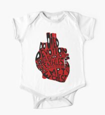 empty chest : anatomical heart (large red) One Piece - Short Sleeve