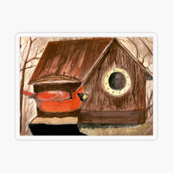 Bird's New House Transparent Sticker