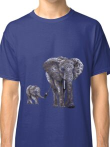 Swirly Elephant Family Classic T-Shirt